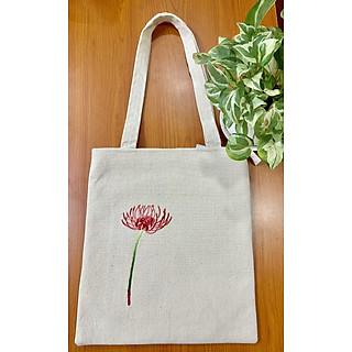 Túi tote thêu thời trang nữ - Hoa Bỉ Ngạn