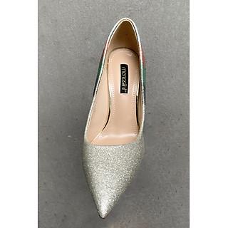 Giày Cao Gót Nữ 10p Phủ Nhũ 7 Màu