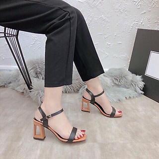 Giày Cao Gót Sandal Lỗ Thủng