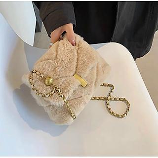 Túi xách lông thú phong cách Hàn quốc thời trang cho nữ