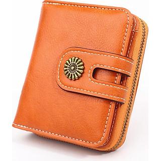 Ví bóp ngắn nữ Da dầu chứa tiền, thẻ đa năng tiện dụng