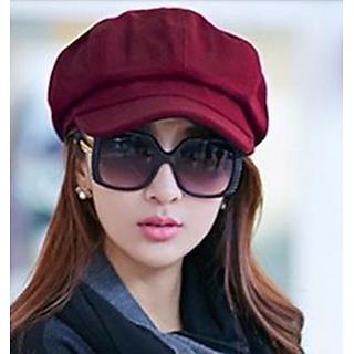 Mũ Nón Beret nữ màu đỏ Bere Hat Women dn19111014