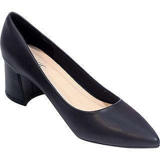 Giày Cao Gót Nữ Gót Vuông 5P Mũi Nhọn Pixie P055