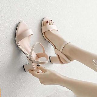 Giày cao gót nữ đế vuông 7cm dáng công sở mẫu mới 2021