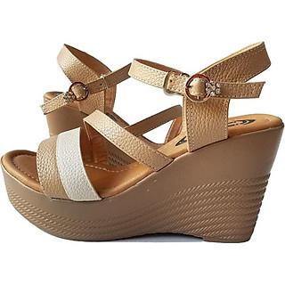 Giày Sandal Nữ Đế Xuồng BIGGBEN Da Bò Thật SDX16
