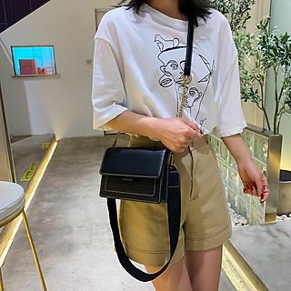 Túi xách nữ phối màu vintage phong cách Hàn Quốc đeo chéo toza TX06