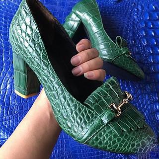 Giày cao gót nữ da cá sấu 2