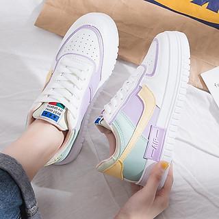 Giày Sneakers Nữ Phối Màu Trendy Năng Động