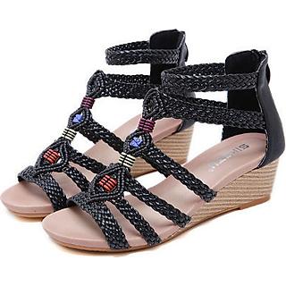 Dép sandal nữ cao 5cm c202 - 40