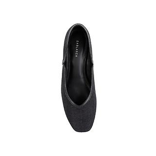 Giày cao gót mũi vuông phối vải tweed - Sablanca 5050BV0012