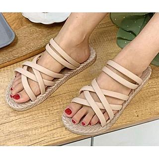 Giày Sandal nữ êm chân,  đế vân cói SAD106