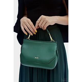 Túi da thật - Clara - Màu xanh rêu