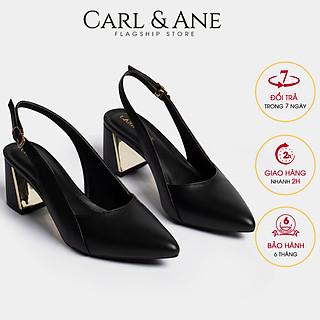 Giày cao gót slingback Erosska thời trang mũi nhọn kiểu dáng basic cao 7cm CL001
