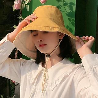 Mũ Tai Bèo Rộng Vành Hai Mặt Thời Trang Cho Nữ