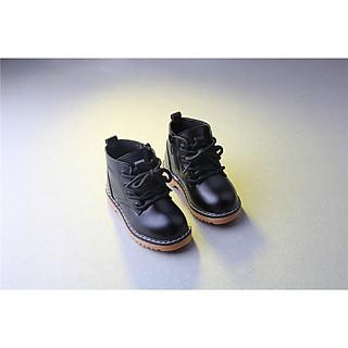 Giày boot da style cho bé trai bé gái - có khoác kéo