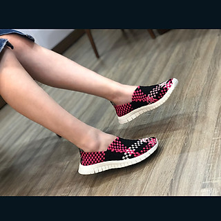 Giày thể thao nữ Thái Lan chuyên dụng đi bộ siêu nhẹ siêu bền siêu êm chân WN3014PinkBlack, màu sắc thời trang trẻ trung, không ngại mưa nắng, đi mưa rửa nước thoải mái, đi mòn hết đế chưa hỏng giày - giày dép Thái Lan