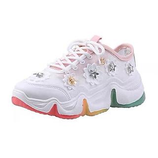 Giày Sneaker Nữ hoa đá - Giày thể thao nữ đế phối màu HP999