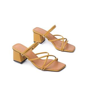 Giày Sandal Cao Gót Quai Mảnh Đế Vuông Pixie X506