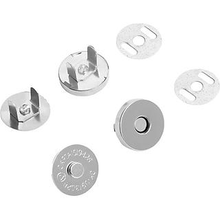 TÊN SẢN PHẨM: Bộ 10 nút hít nam châm làm túi xách 18x4mm (cỡ lớn) - Màu trắng