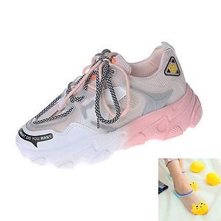 Giày Thể Thao Nữ - Kiểu Dáng Sneaker Buộc Dây - Phối Màu Độc Lạ - Đế Nâng Chiều Cao Cá Tính - Hàng Chuẩn Đẹp - Tặng 3 Đôi Tất Mèo Màu Ngẫu Nhiên