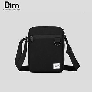Túi DIM Mini Cross Bag (Túi Đeo Chéo Thời Trang Unisex, Vải Canvas Trượt Nước, Thiết Kế Nhỏ Gọn) - Màu Đen / Vàng / Nâu
