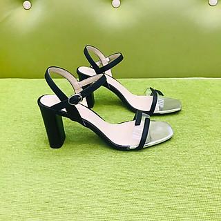 [ Shop giày somina ] Sandal 7cm quai trong bảng nhỏ phối màu MT925