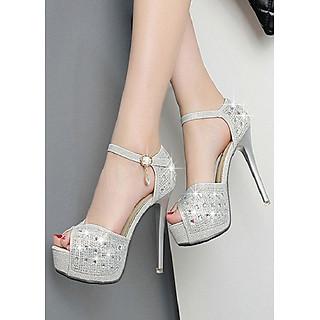 Giày cao gót đính đá cao cấp