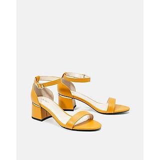 JUNO - Giày sandal gót vuông quai ngang - D07046