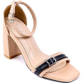 Giaỳ sandal Mozy đế vuông quai khóa MZSD034