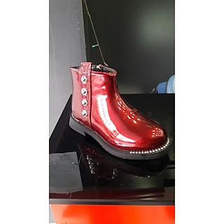 Giày Boots Da Bóng Đính Đinh Tán Cherry - GBNDT