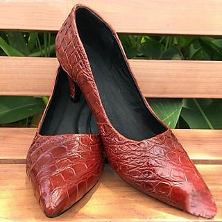 Giày cao gót nữ da cá sấu 7