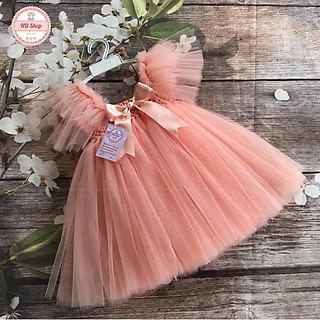 Váy công chúa cho bé ️FREESHIP️ Váy công chúa hồng cam cánh tiên