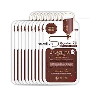 Bộ 10 Gói Mặt Nạ Nhau Thai Cừu Tăng Độ Đàn Hồi Và Chống Lão Hóa Da Mediheal Placenta Revital Essential Mask Ex 25ml x10