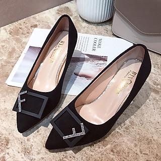 Giày cao gót mũi nhọn, gót nhọn 6.5cm F958