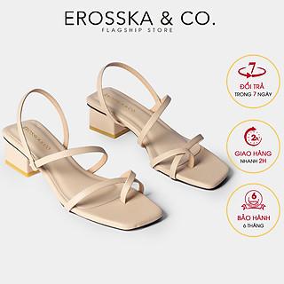 Giày sandal nữ thời trang Erosska xỏ ngón dây mãnh kiểu dáng hiện đại dễ phối đồ cao 5cm EB024