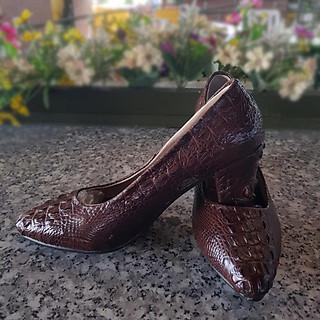 Giày cao gót nữ da cá sấu 1