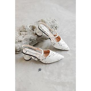 Giày Cao Gót Đế Tròn 5 Phân Họa Tiết Vân Đá LitheS N118 Nhiều Màu