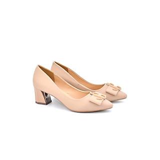 Giày Cao Gót 5P Gót Trụ Mũi Phối Nơ Thời Trang Sang Chảnh Êm Chân PABNO -BH 12 Tháng- PN12013