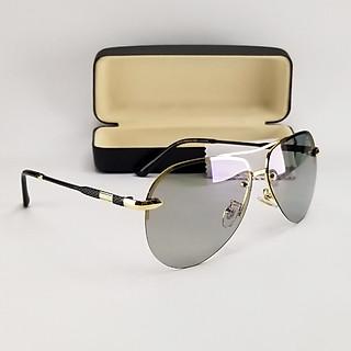 Mắt kính mát nam đổi màu đi ngày đêm DKY8752DM. Kính nam chống tia UV, chống nắng. Gọng kính kim loại, ôm mặt