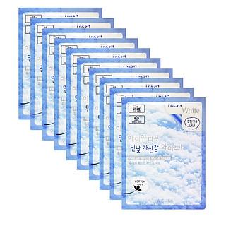 Combo 10 Túi Mặt nạ giấy - Mặt nạ dưỡng da hoa Tuyết 3W Clinic Hàn Quốc 23mlx10