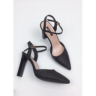 Giày cao gót sanh chảnh trụ 10cm kim tuyến GXK020
