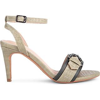 Sandal cao gót vân da cá sấu - Sablanca 5050SN0108