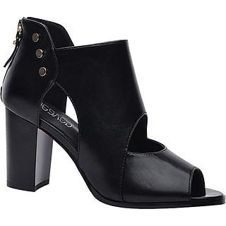 Giày Boots Cao Cổ Nạm Kim Loại Monte