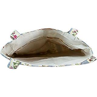 Túi Tote Nữ Sọc Hoa Xanh XinhStore TVBM_23 (41 x 30 cm)