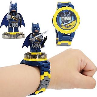 Đồng hồ xoay gắn nhân vật hoạt hình - siêu nhân - công chúa