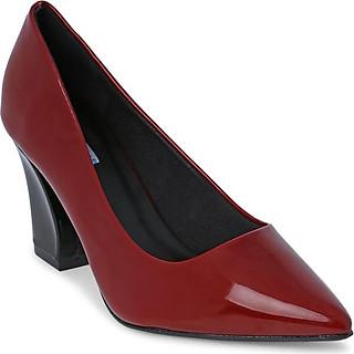 Giày Cao Gót Nữ Đế Vuông Rosata RO125 - Đỏ Đô