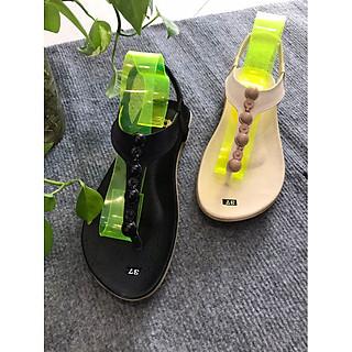 Sandal kẹp nữ đính hạt tròn dễ thương