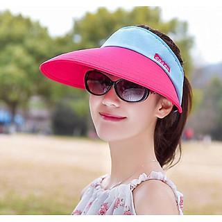 Mũ chống nắng rộng vành nửa đầu phong cách thời trang nón rộng vành thời trang