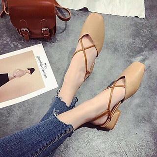 B1 - Sandal nữ, sandal tiêu thư đế cao quai chéo