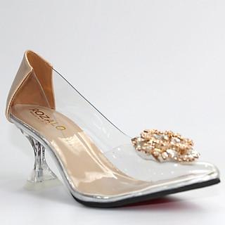Giày cao gót nữ 7P trong suốt Rozalo R8007
